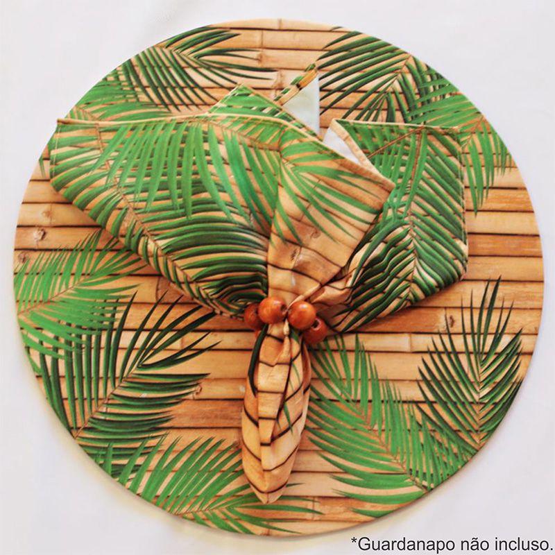 Sousplat Base e Capa em Tecido Bamboos