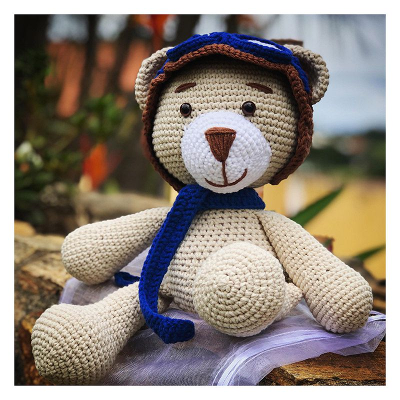 Urso crochê amigurumi no Elo7 | JuzinhaCroche (D08FBA) | 800x800