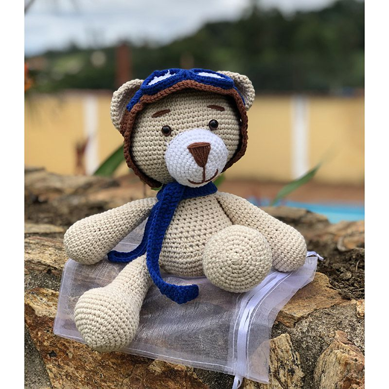 Ursinho Aviador Amigurumi