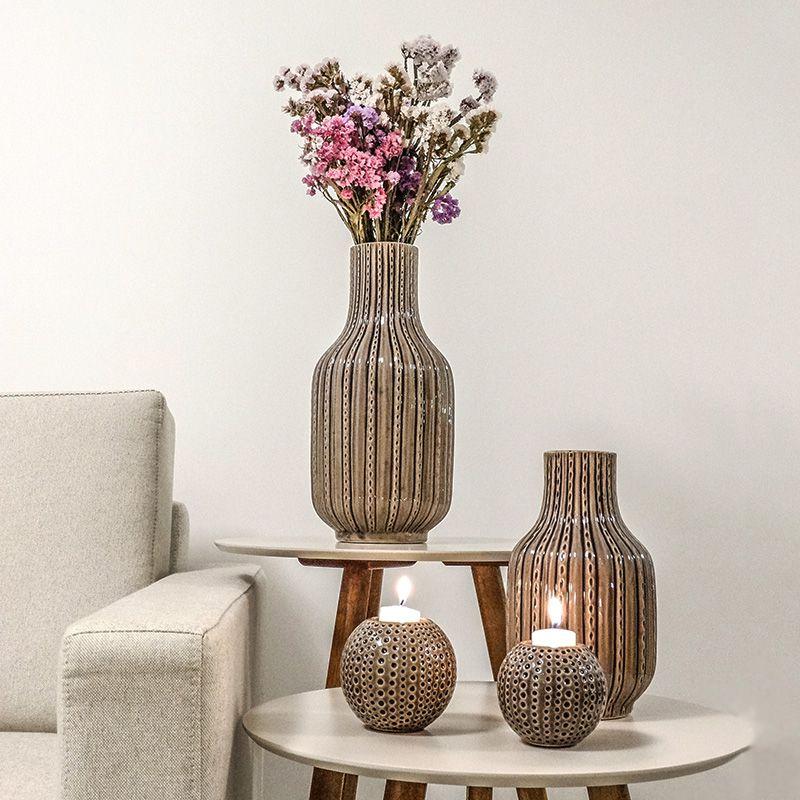 Vaso Decorativo Grande em Cêramica com tons de roxo