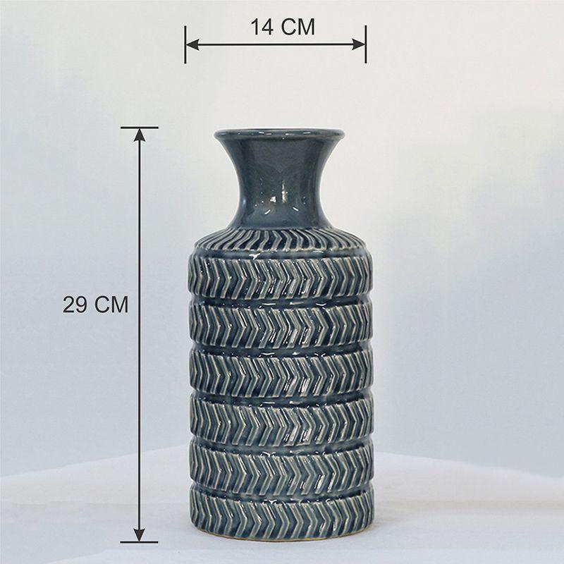 Vaso Decorativo Médio em Cerâmica Azul