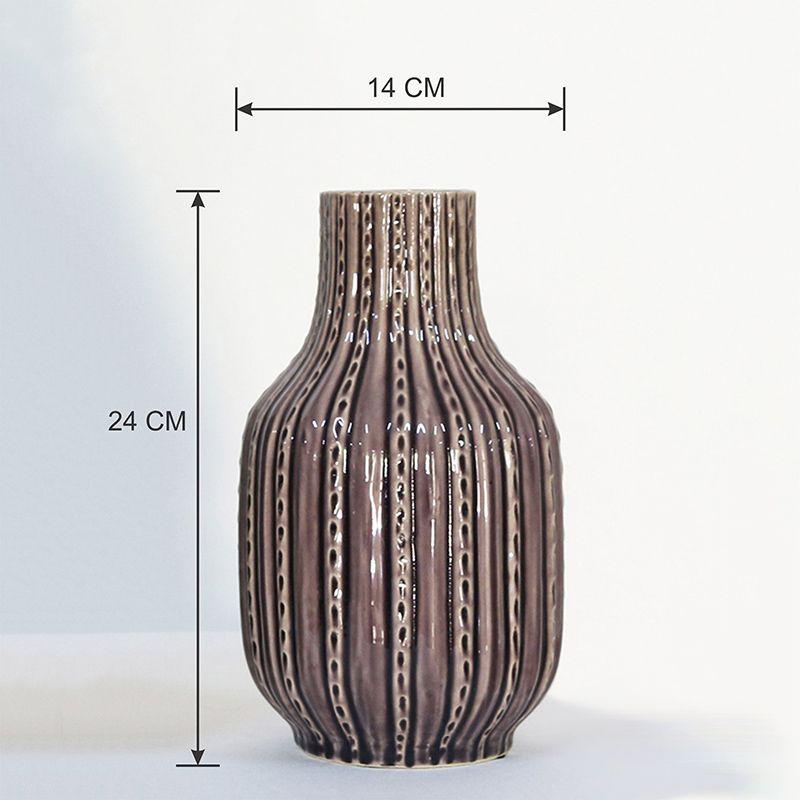 Vaso Decorativo Pequeno em Cerâmica com tons de roxo