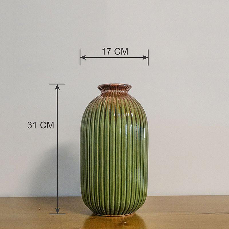 Vaso Decorativo Pequeno em Cerâmica verde
