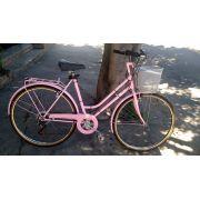 Bike Feminina Saxon Manhattan (Antiga / Tipo Ceci) 7v / Aro 700