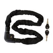 Cadeado corrente de aço reforçado com chave 1000mm x 8mm / 2 chaves / preto