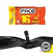 Câmara aro 16 x 1.75 / 1.90 / válvula comum (Schrader / Americana) 35mm / marca Paco