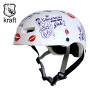 Capacete Bike / Skate / Patins - Kraft Pin-Up - Fem - Muito novo!