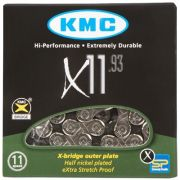 Corrente KMC MTB/SPEED X-11 PRATEADO 11VEL 1/2x11/128 116L