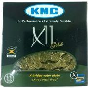 CORRENTE KMC X-11 DOURADO 11VEL 1/2x11/128 116L