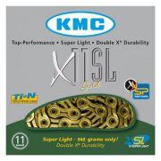 CORRENTE KMC X-11SL DOURADO 11VEL VAZADO 1/2x11/128 116L