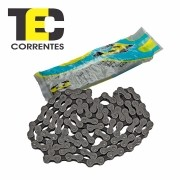 "Corrente Tec C-410 Preta 114L 1/2""X1/8"" - Fixa - Single Speed - Grossa"