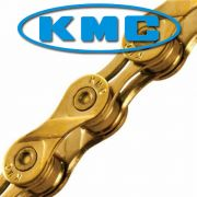 Corrente MTB / SPEED - KMC X-9L Ti-N 9V Gold - Dourada