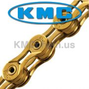 Corrente MTB / SPEED - KMC X-9SL Ti-N 9V Gold - Dourada