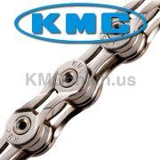Corrente MTB / SPEED - KMC X9SL Ti-N 9V Silver - Prateado