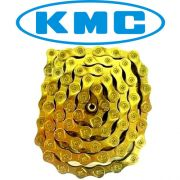Corrente MTB / SPEED - KMC X9 Ti-N Gold 9v (dourada)
