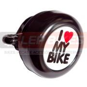 Campainha I love my bike Preta
