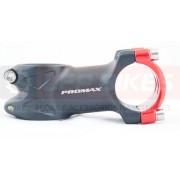 Mesa de Bicicleta / Avanço Promax 6º 60mm Preta e Vermelha 31.8mm - 170g
