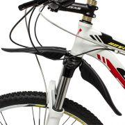 Kit paralamas (dianteiro + traseiro) para bicicletas / cor preta