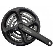 Pedivela Shimano Altus M171 24X34X42D 175mm - Protetor de Corrente
