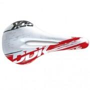 Selim DDK 373 K30 Vazado - Speed / MTB - Vermelho e Branco - 322g