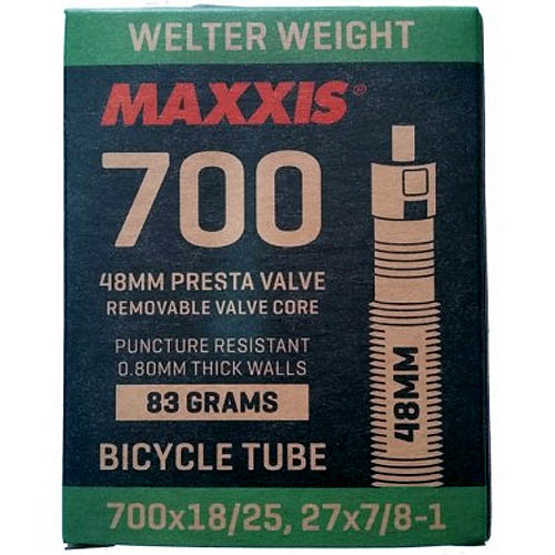 Câmara para bike Speed Maxxis Welter Weight 700x18/25C válvula Presta 48mm