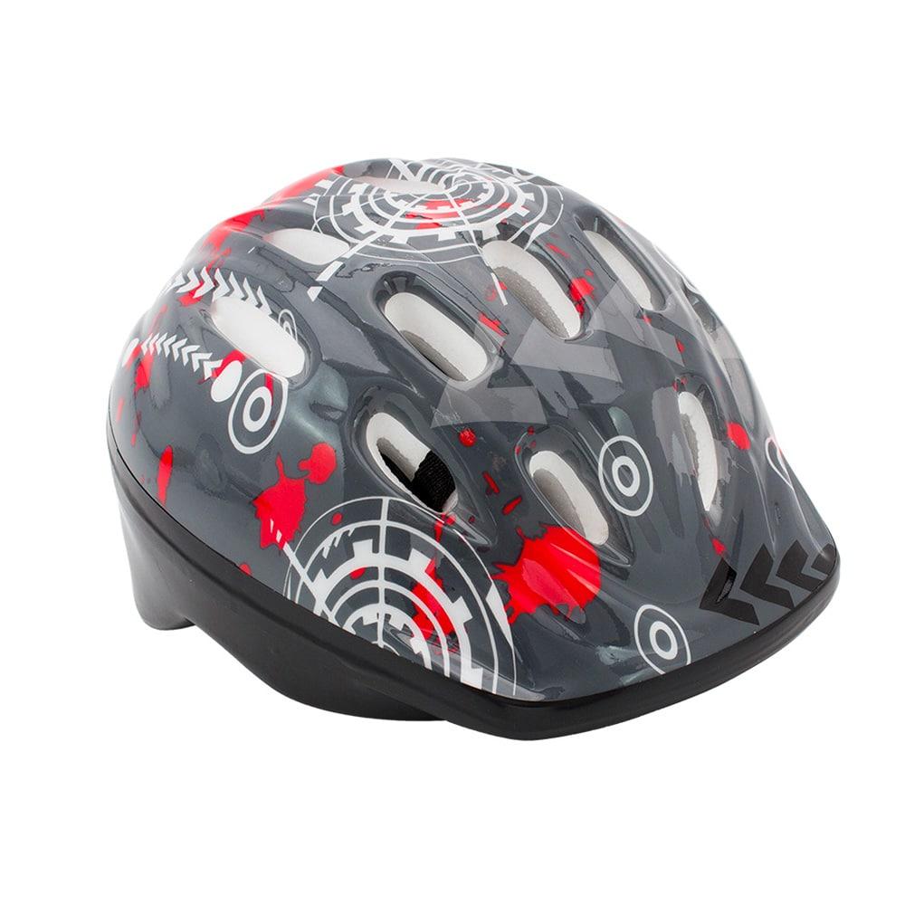 Capacete Infantil para bike Cinza / Vermelho / Branco