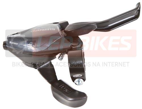 Conjunto de Trocador com Alavanca de Freio EF51 EZFire Esquerdo e Direito 3x9 velocidades Shimano