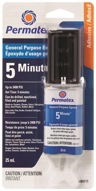 Cola Epoxi Para Uso Geral Fixa em 5 Minutos Permatex - 25ml