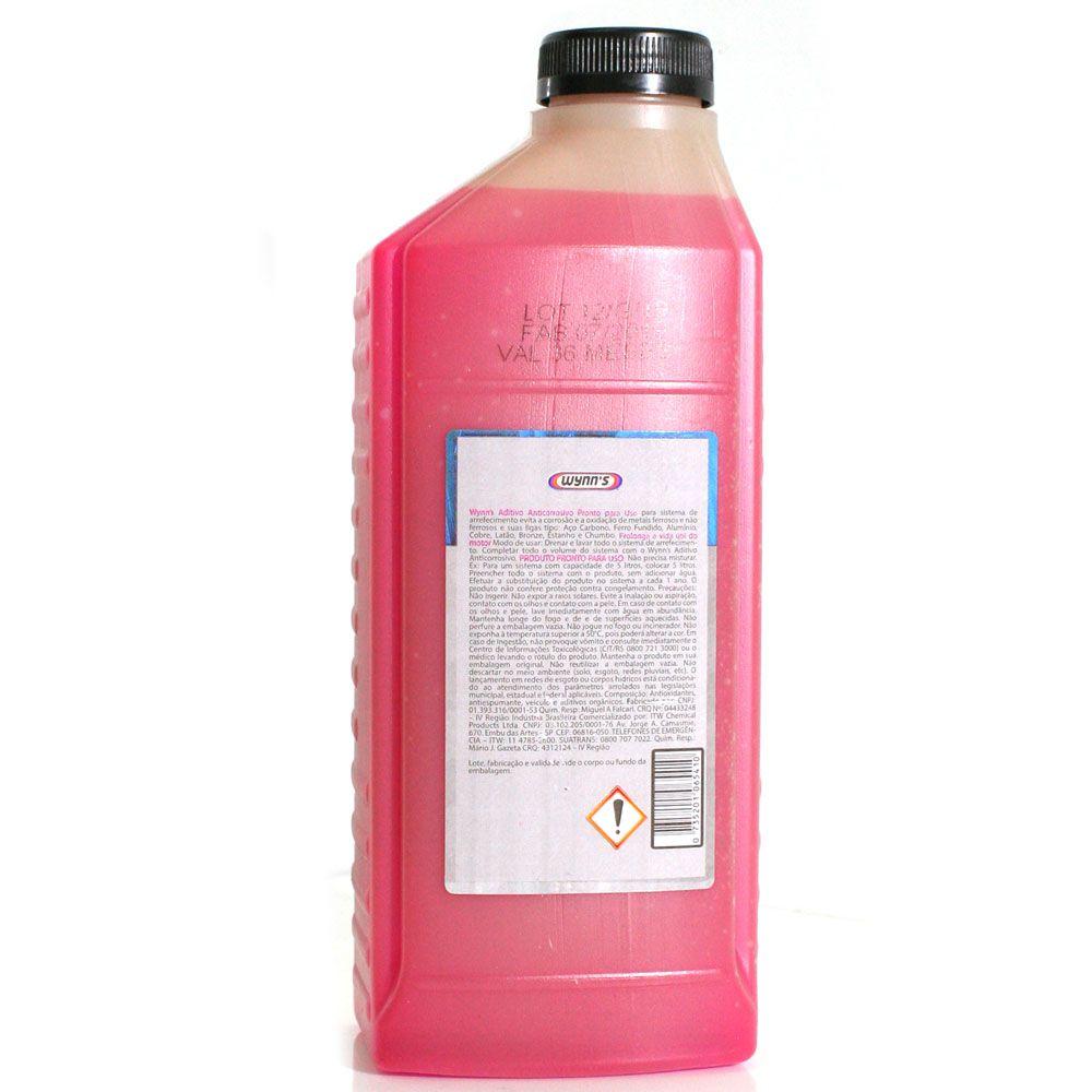 Aditivo Wynns Anticorrosivo Diluído Pronto p/ Uso Rosa - 1L