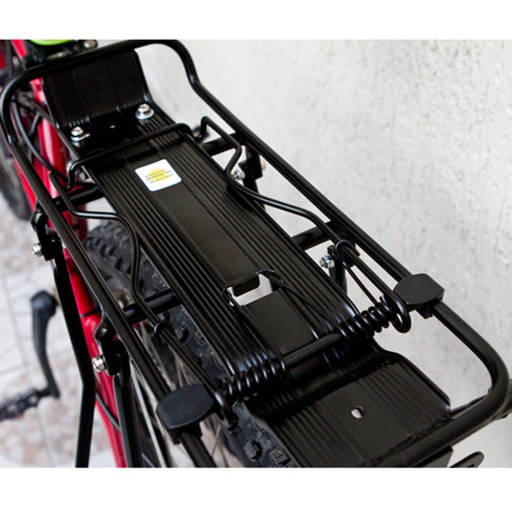 Bagageiro Garupeira Traseiro de Bicicleta para Freio a Disco - até 20kg