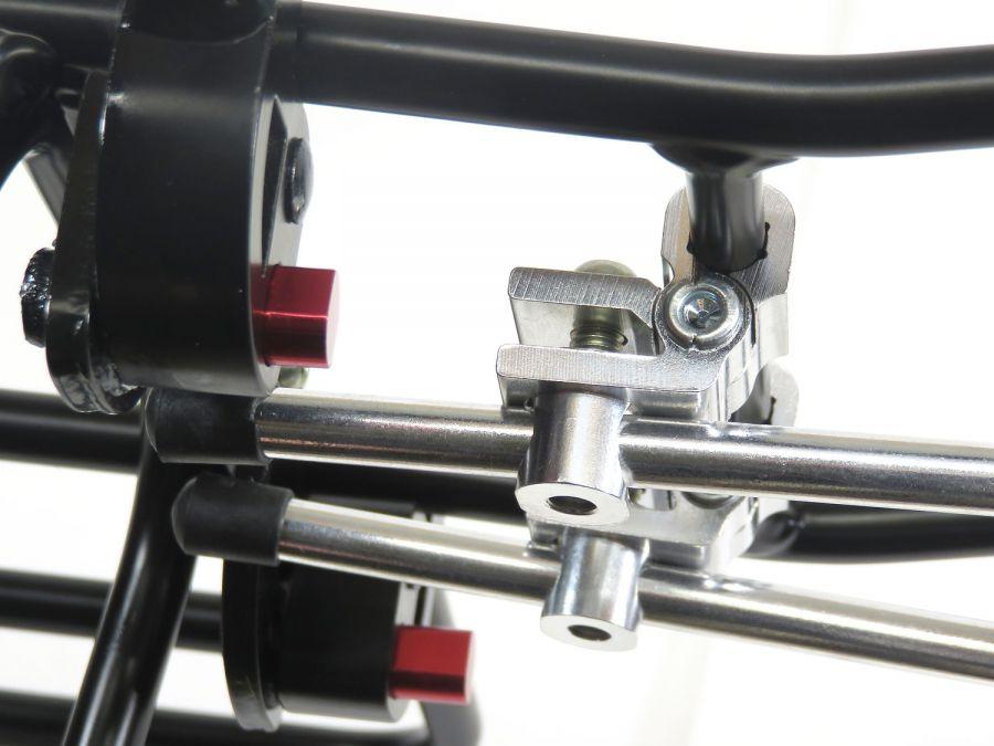 Bagageiro Traseiro Ostand CD-266 Ajustável C/ Aba Lateral - até 25kg