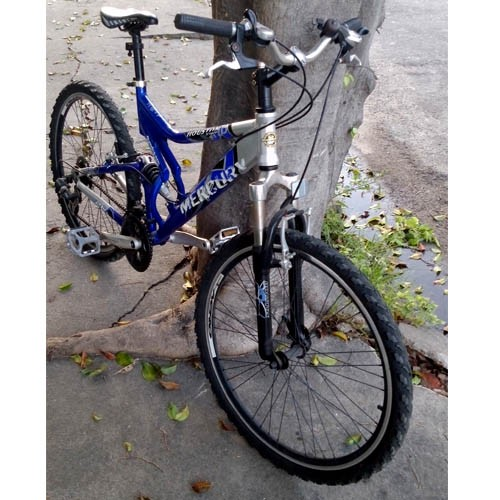 Bicicleta aro 26 -  Houston Mercury Full Suspension - Alumínio - 21v Shimano