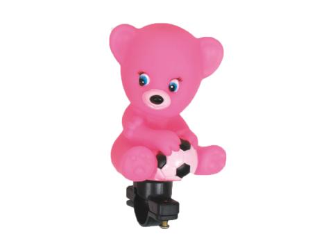 Buzina Infantil Fom-Fom Urso Rosa