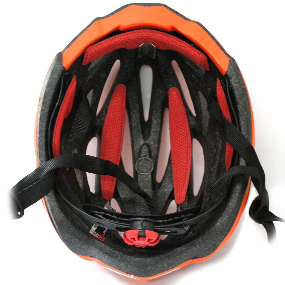 Capacete Bicicleta Ranking H93 Nest Laranja Fosco - Tamanho G