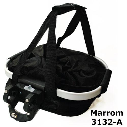 Cesta com suporte e engate rápido - cor Marrom 3132-A