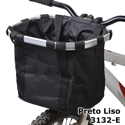 Cesta com suporte e engate rápido - cor Preto Liso 3132-E