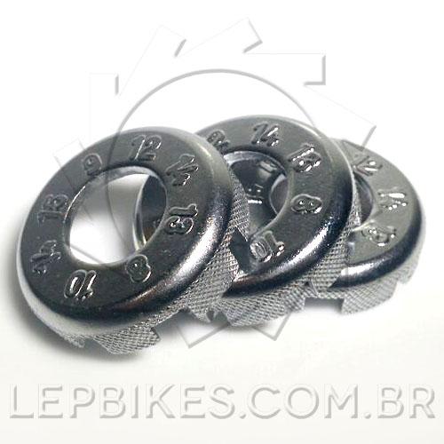 Chave de Raio Universal com 8 bocas p/ Bicicleta