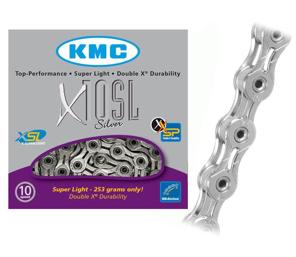 CORRENTE 10v VAZADA KMC X-10SL PRATEADO 1/2x11/128 116L