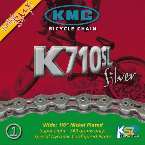Corrente Kmc K-710SL Vazada Cromada Bmx/Freestyle 100L