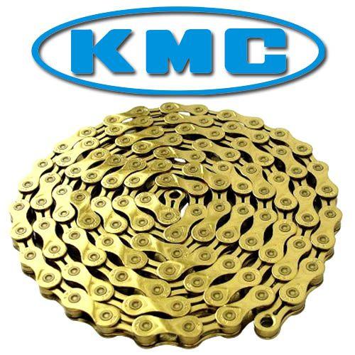 Corrente KMC MTB/SPEED X-10L Ti-N Dourado 10V Semi-Vazada  116L