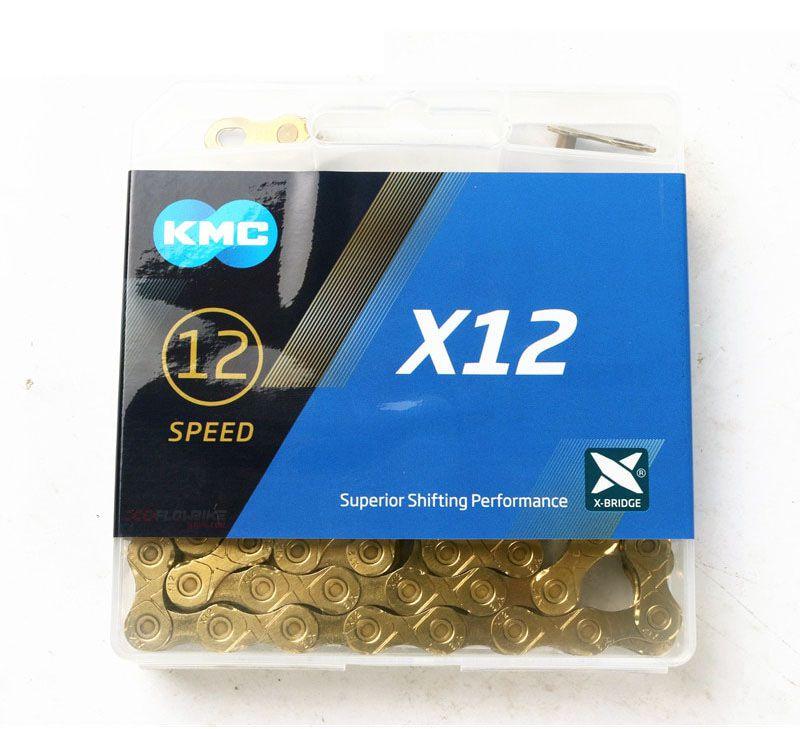 Corrente KMC MTB/SPEED X-12 Ti-N Gold/Black 12v 126L