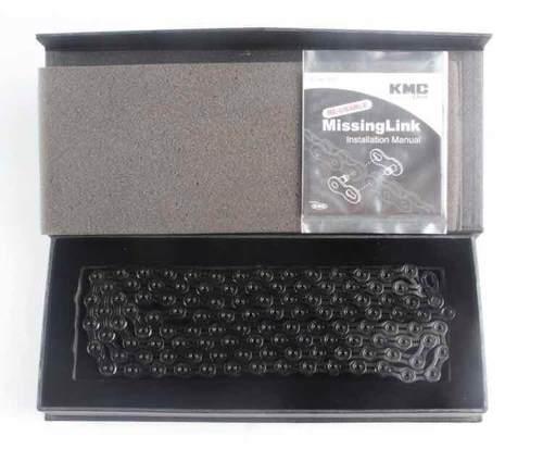 CORRENTE KMC X-11SL DLC PRETO 11VEL VAZADO [1/2x11/128] 116L