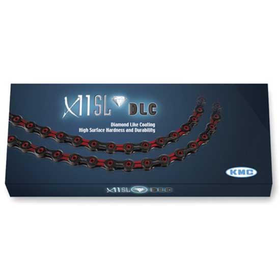 CORRENTE KMC X-11SL DLC VERMELHO 11VEL VAZADO 1/2x11/128 116L