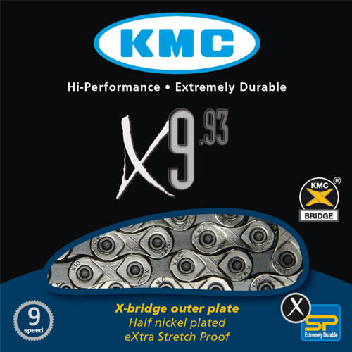 Corrente MTB / SPEED - KMC X9 Silver (Prata)