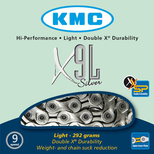 Corrente MTB / SPEED - KMC X9L 9V Silver - Prata