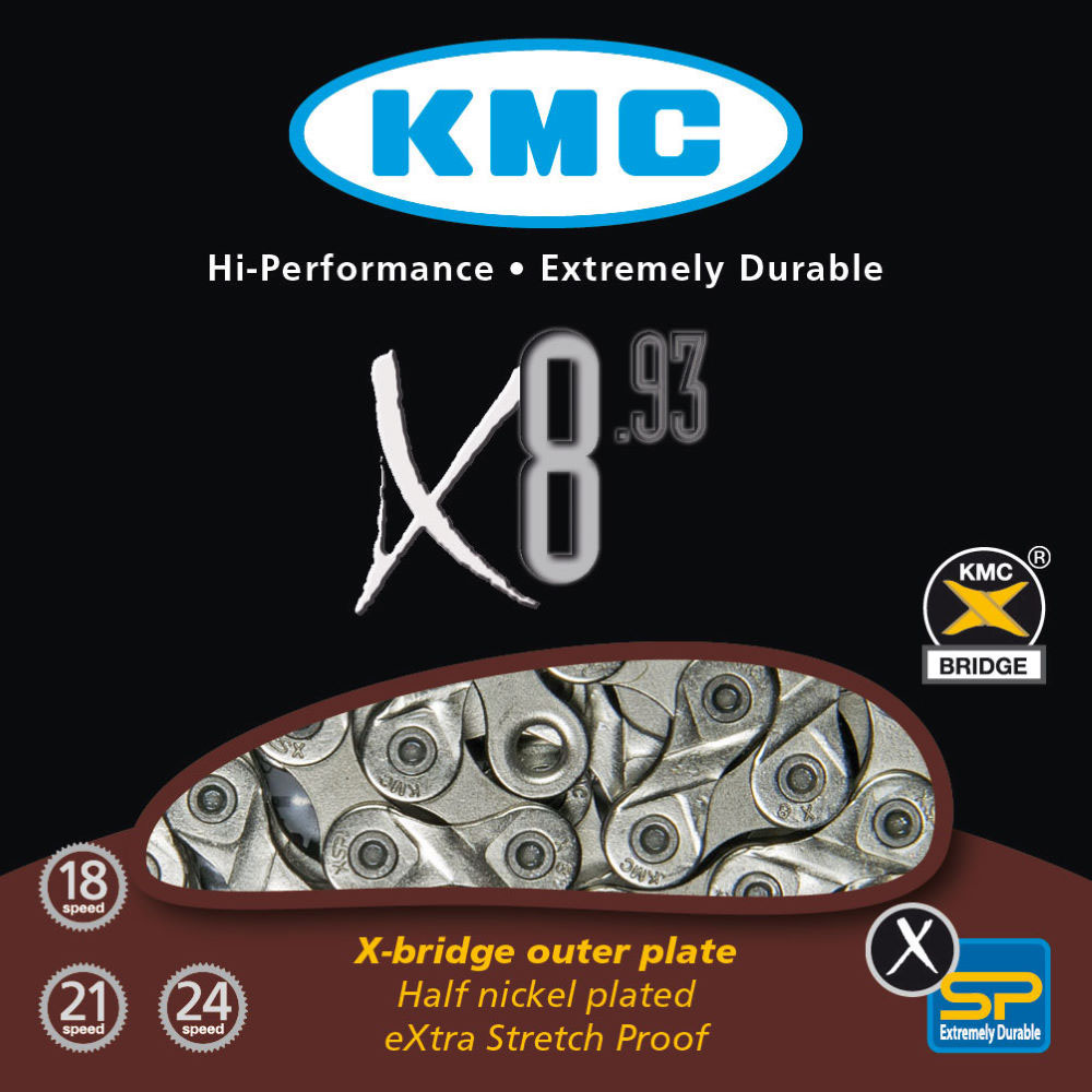 Corrente KMC X-8 MTB / SPEED 8v Prata