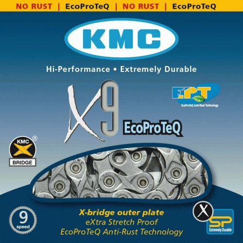 Corrente MTB / SPEED - KMC X9 - 9v - EPT - Anti Ferrugem