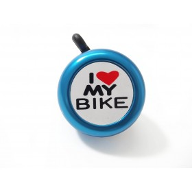 Campainha I love my bike Azul
