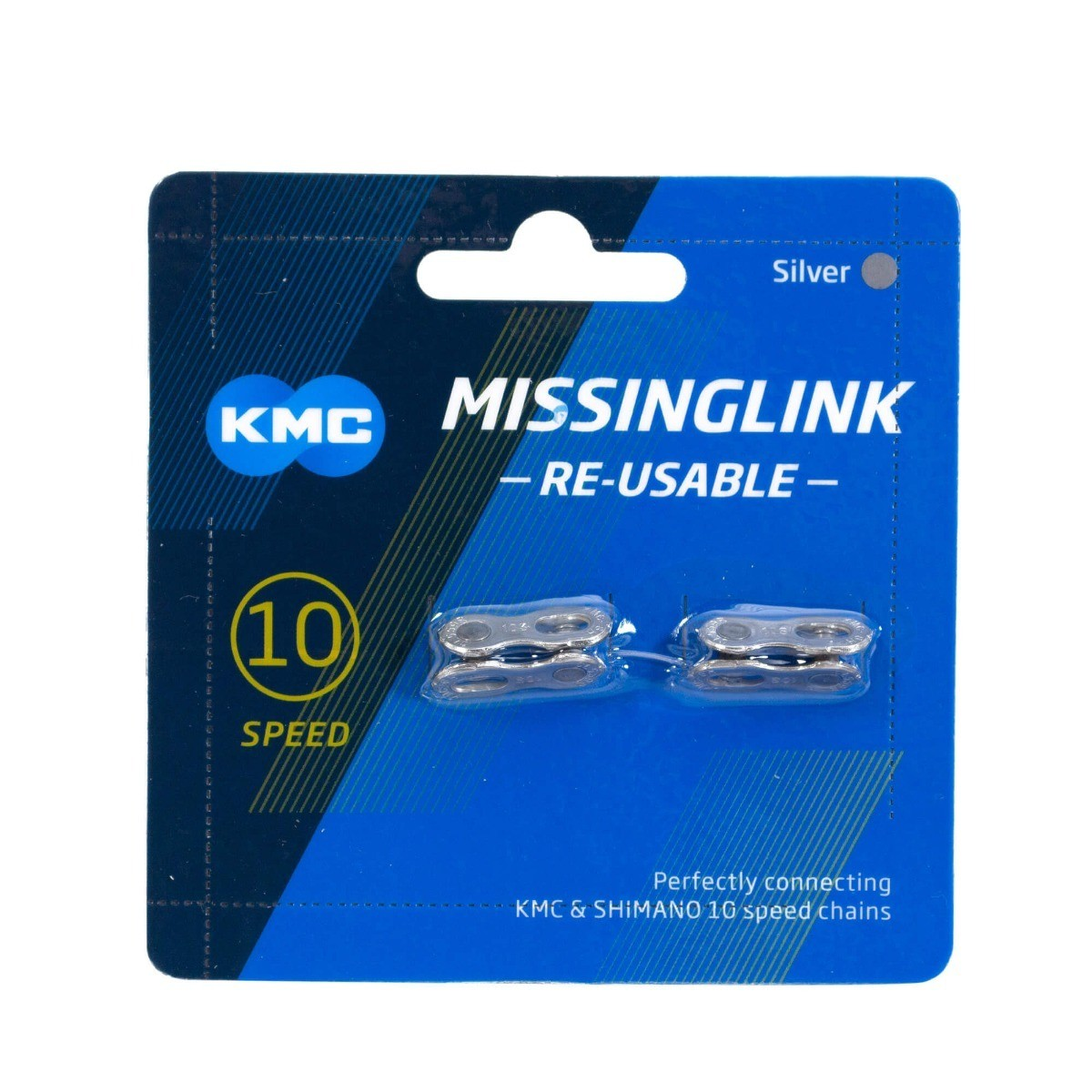 Emenda de Corrente / MissingLink / Power Link KMC 10v Silver - Prata