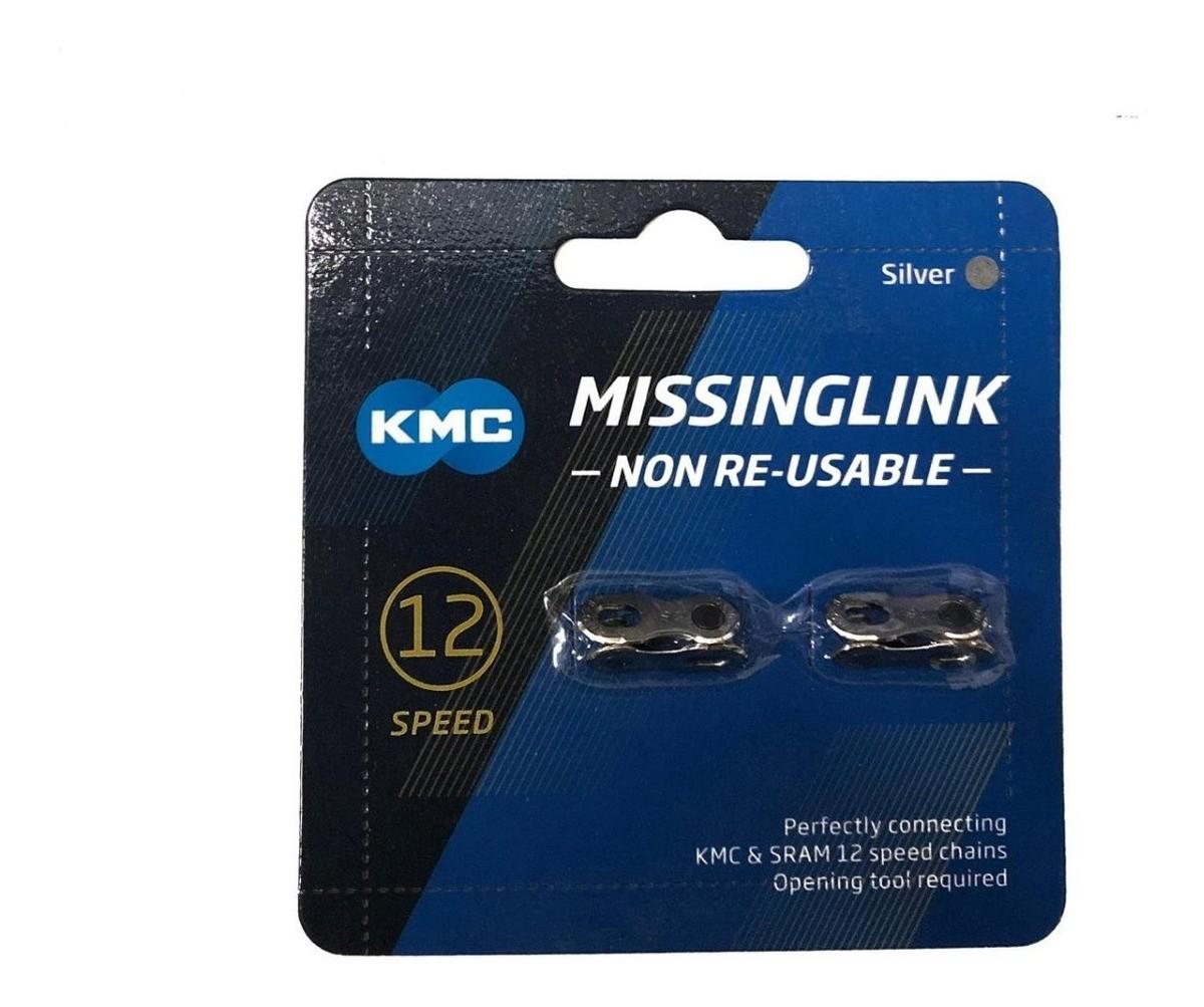 Emenda de Corrente / MissingLink / Power Link KMC 12v Silver - Prata (2 UNIDADES)